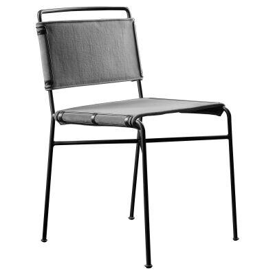 Nocara Velvet Fabric & Iron Dining Chair, Grey
