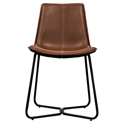Damuzzo Faux Leather Dining Chair, Brown