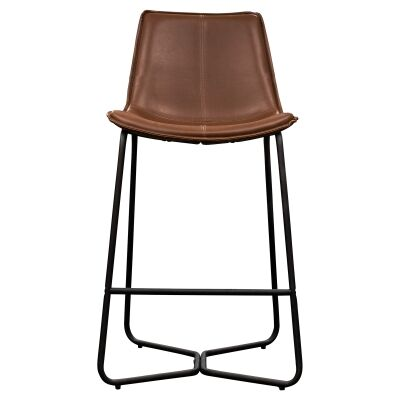 Damuzzo Faux Leather Counter Stool, Brown