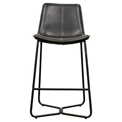 Hawking Faux Leather Counter Stool, Charcoal