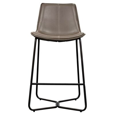 Hawking Faux Leather Counter Stool, Taupe