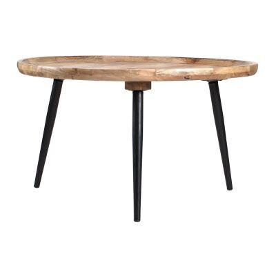 Oslo Mango Wood Tray Top Round Coffee Table
