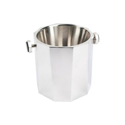 Martinique Stainless Steel Ice Bucket, Silver
