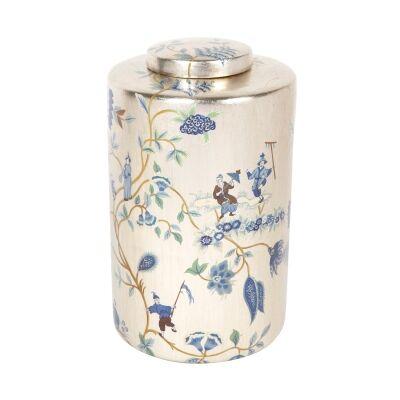 Chinois Porcelain Temple Jar, Medium