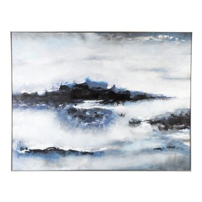 Into The Blue Framed Hand Painted Canvas Wall Art, 180cm
