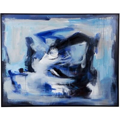 Recline Framed Hand Painted Canvas Wall Art, 150cm