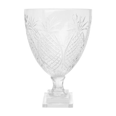 Charleston Cut Glass Hurricane