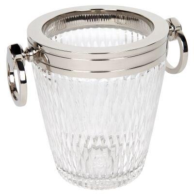 Milano Cut Glass Ice Bucket, Small