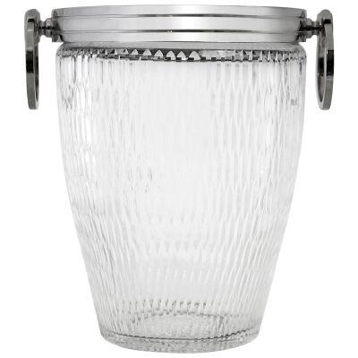 Milano Cut Glass Ice Bucket, Medium