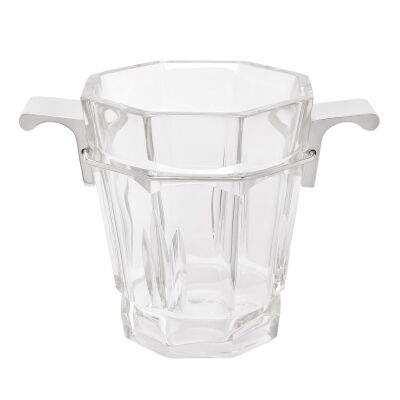 Madison Ave Cut Glass Ice Bucket, Medium