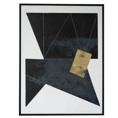 """""""Pitch Black"""" Framed Hand Painted Canvas Wall Art, No.1, 80cm"""
