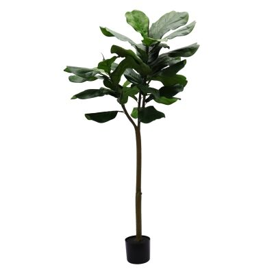 Potted Artificial Fiddle Leaf Fig Tree, 150cm