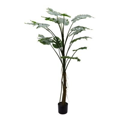 Potted Artificial Monstera Plant, 157cm