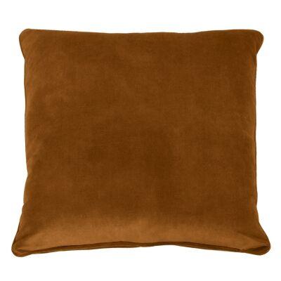 Tobago Velvet Fabric Feather Filled Euro Cushion, Tobacco