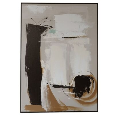 """""""Deconstructed"""" Framed Hand Painted Abstract Canvas Wall Art, 138cm"""