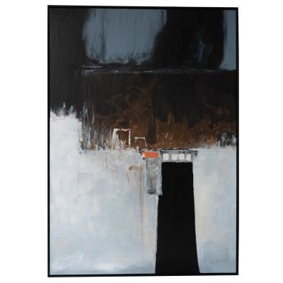 """""""Mystery Road"""" Framed Hand Painted Abstract Canvas Wall Art, 138cm"""