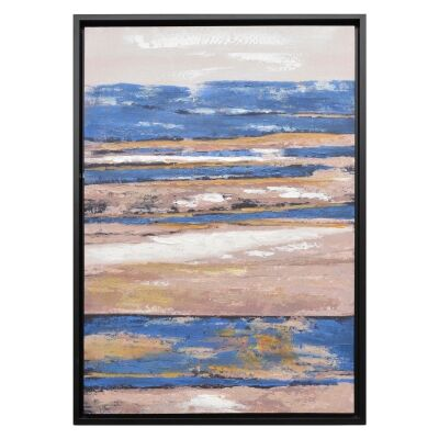 """""""Castaway"""" Framed Hand Painted Abstract Canvas Wall Art, 95cm"""