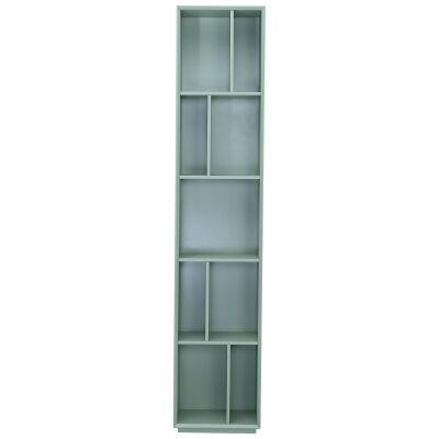 Tristan Ultra Slim Bookcase, Seafoam