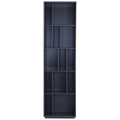 Tristan Slim Bookcase, Gunmetal