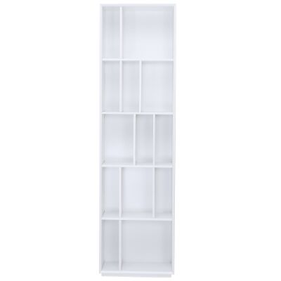 Tristan Slim Bookcase, White