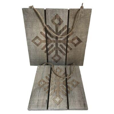 2 Piece Wooden Tribal Symbol Pattern Wall Art Set