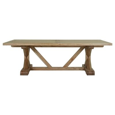 Macaire Mindy Wood Dining Table, 244cm