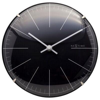 NeXtime Mini Dome Table / Wall Clock, 20cm, Black