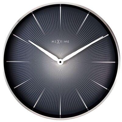 NeXtime 2 Seconds Metal Frame Wall Clock, 40cm, Black
