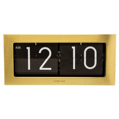 Nextime Big Flip Wall / Table Clock, 36cm, Gold