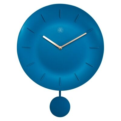 NeXtime Bowl Wall Clock, 30cm, Turquoise