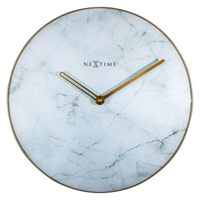 NeXtime Marble Wall Clock, 40cm, White