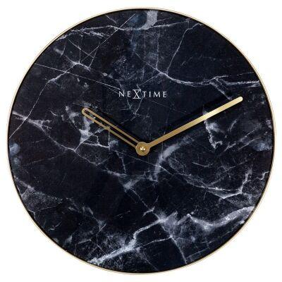NeXtime Marble Wall Clock, 40cm, Black