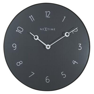 Nextime Carousel Metal & Glass Round Wall Clock, 40cm, Grey