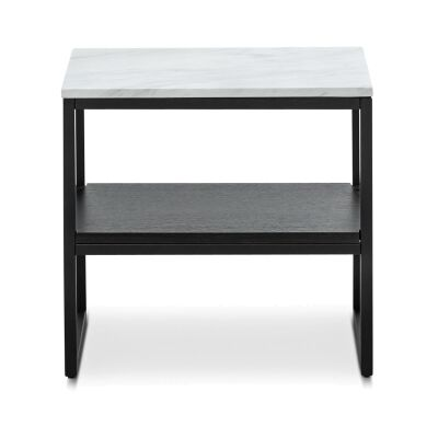 Ebonie Cultured Marble Topped Side Table