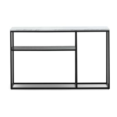 Ebonie Cultured Marble Topped Console Table, 130cm