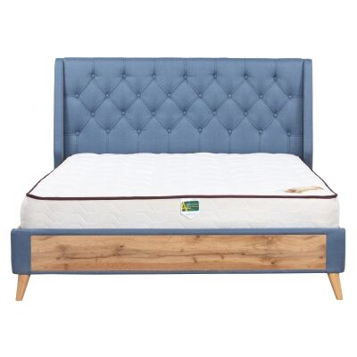 Charlie Fabric & Wood Platform Bed, Queen