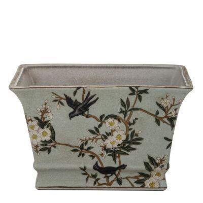 Delilah Ceramic Rectangular Pot, Large