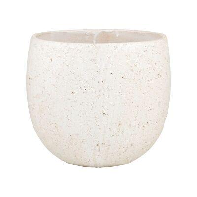 Webster Ceramic Tub Pot, White