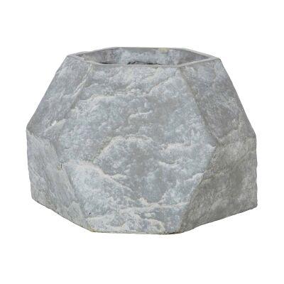 Geo Rock Cement Pot