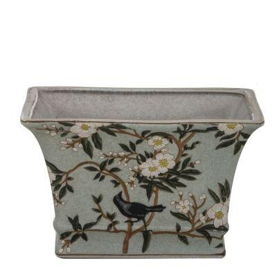 Delilah Ceramic Rectangular Pot, Small