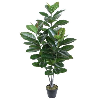Potted Artificial Ficus Tree, 128cm