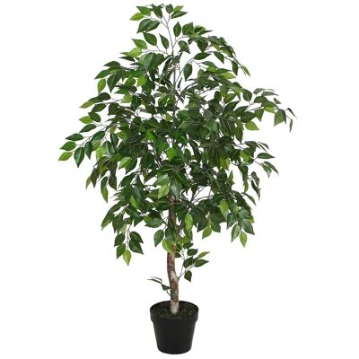 Potted Artificial Ficus Tree, 124cm