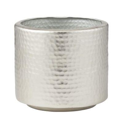 Tanya Aluminium Pot, Medium, Silver