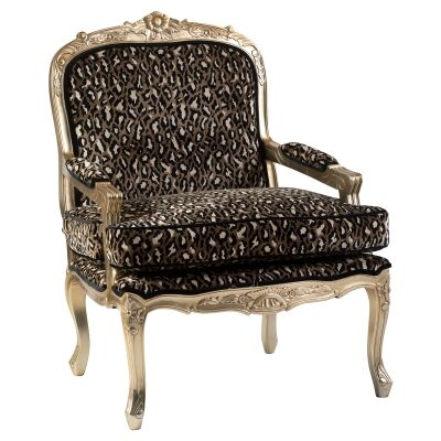 Elysee Luxe Velvet Fabric & Timber French Armchair