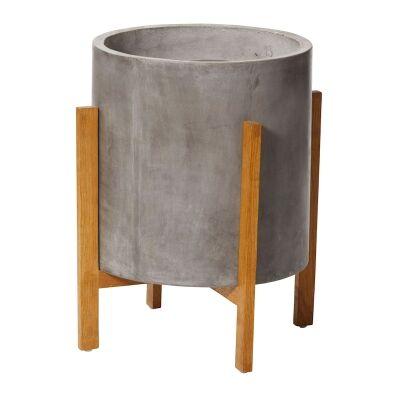 Boston Concrete Planter Stand, Large, Grey