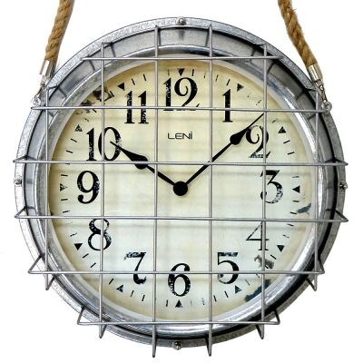 Leni Jayden Steel Outdoor Hanging Clock, 40cm