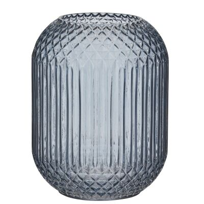 Valentina Glass Vase, Blue