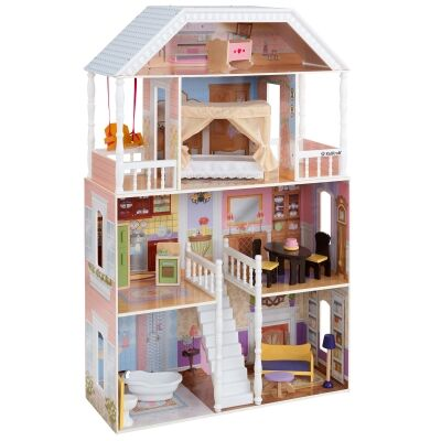 Kidkraft New Savannah Dollhouse (14 pc furniture)