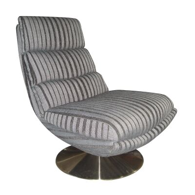 Dale Fabric Swivel Lounge Chair