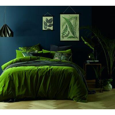 Vintage Design Homeware Cotton Velvet Quilt Cover Set, King, Mossy Road